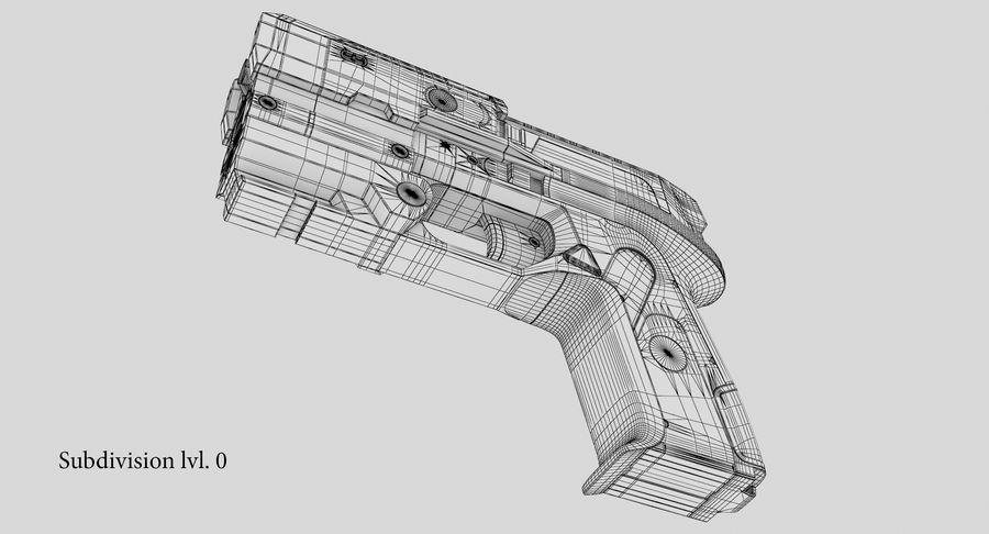 Sci-fi Gun royalty-free 3d model - Preview no. 25