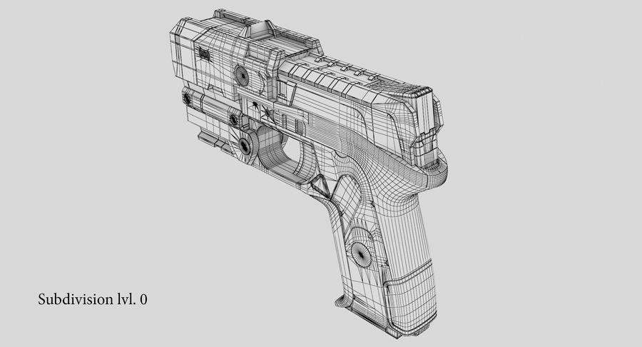 Sci-fi Gun royalty-free 3d model - Preview no. 17