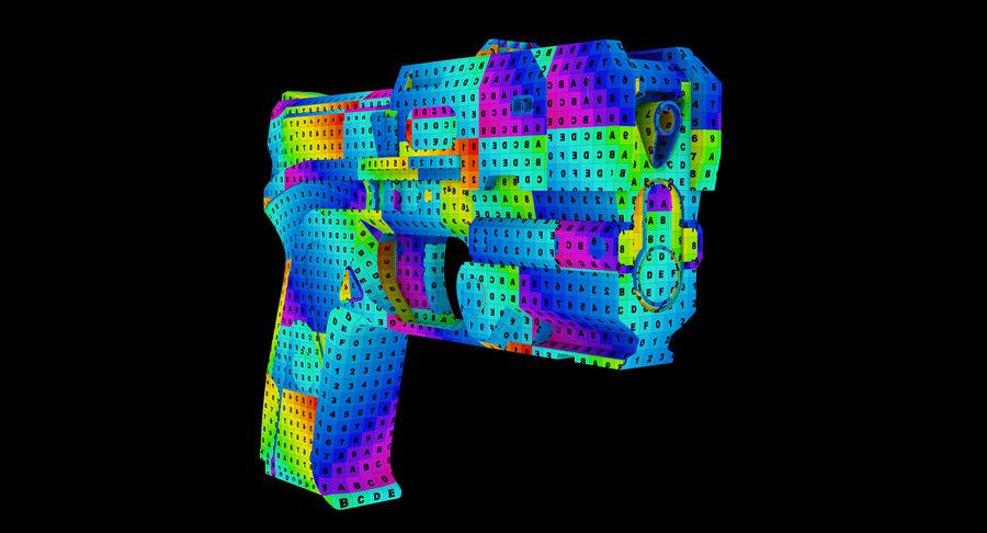 Sci-fi Gun royalty-free 3d model - Preview no. 10