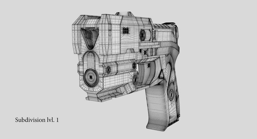 Sci-fi Gun royalty-free 3d model - Preview no. 28