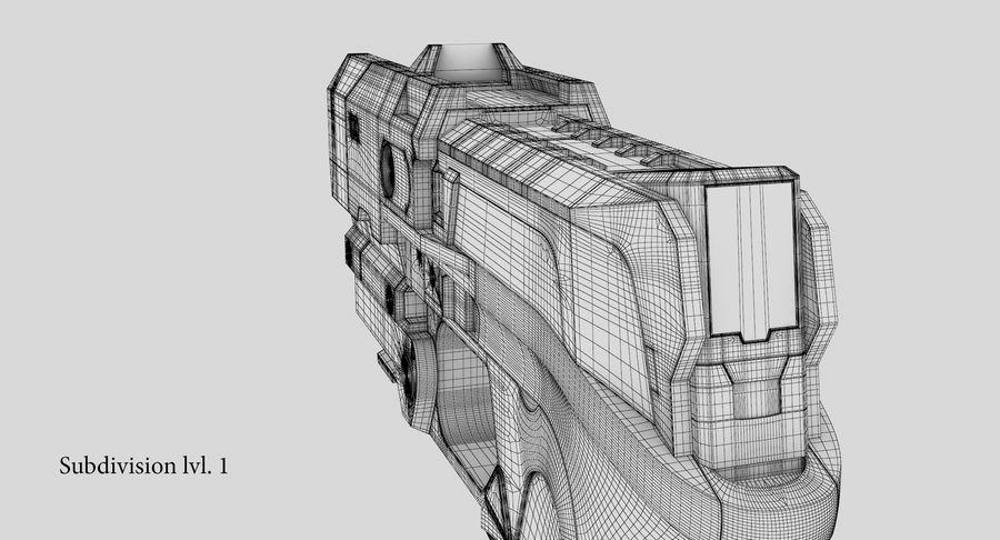Sci-fi Gun royalty-free 3d model - Preview no. 24
