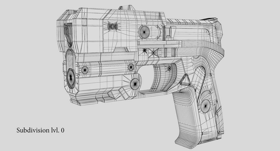 Sci-fi Gun royalty-free 3d model - Preview no. 15