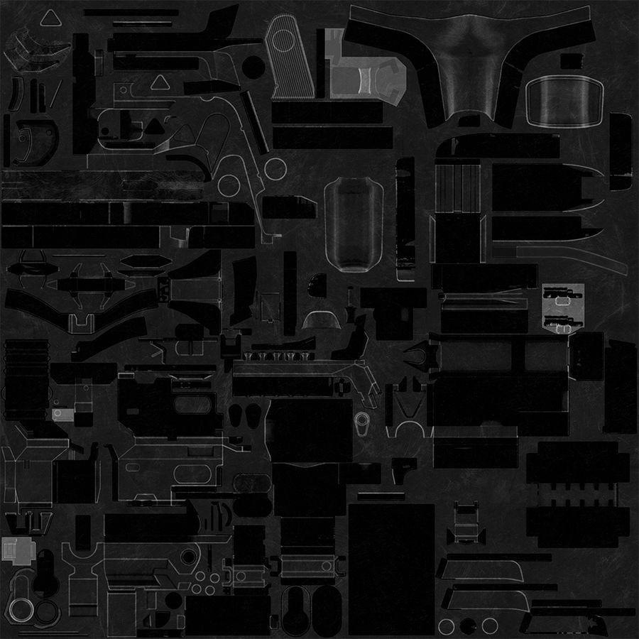Sci-fi Gun royalty-free 3d model - Preview no. 31