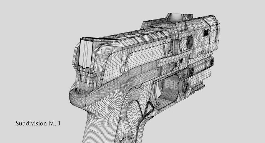 Sci-fi Gun royalty-free 3d model - Preview no. 22