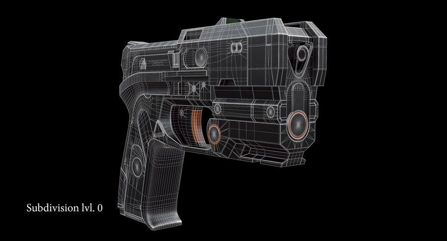 Sci-fi Gun royalty-free 3d model - Preview no. 14