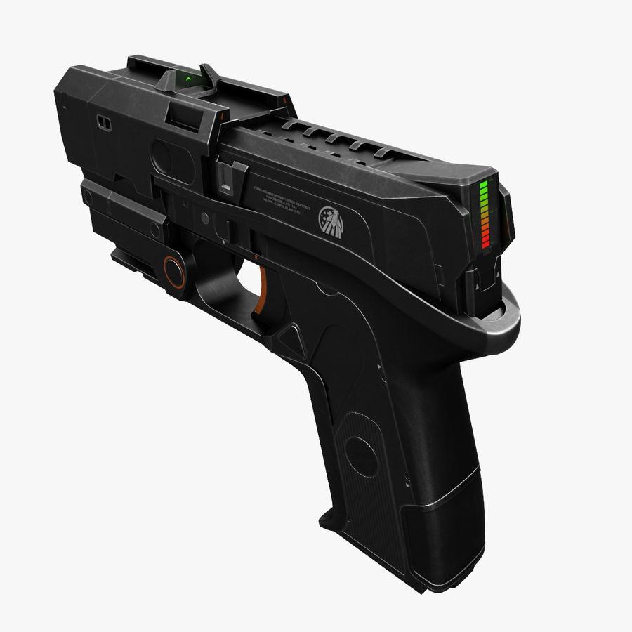 Sci-fi Gun royalty-free 3d model - Preview no. 1
