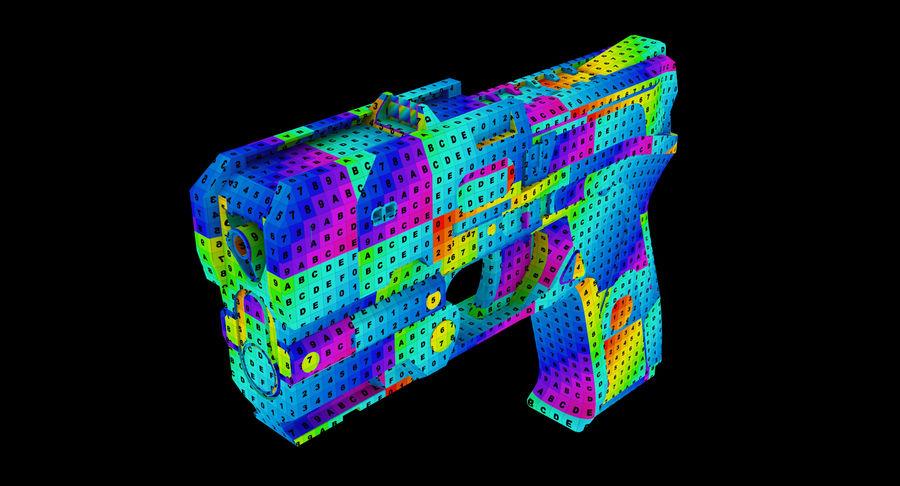 Sci-fi Gun royalty-free 3d model - Preview no. 8