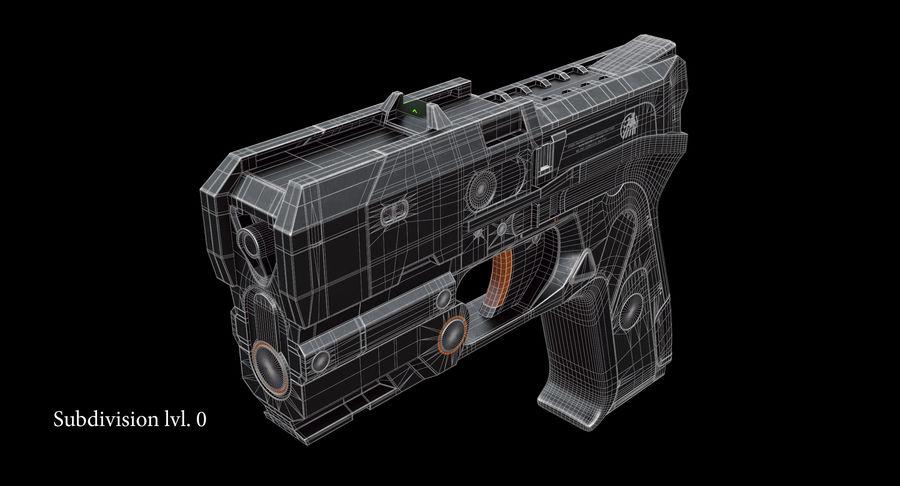 Sci-fi Gun royalty-free 3d model - Preview no. 12