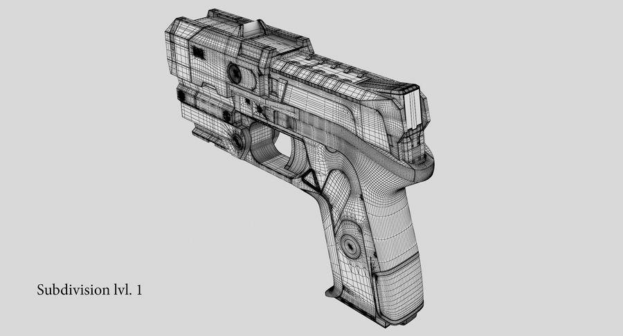 Sci-fi Gun royalty-free 3d model - Preview no. 18