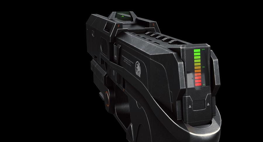 Sci-fi Gun royalty-free 3d model - Preview no. 6