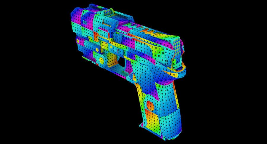 Sci-fi Gun royalty-free 3d model - Preview no. 9