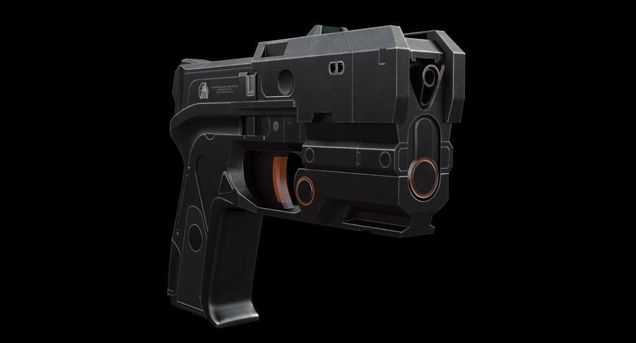 Sci-fi Gun royalty-free 3d model - Preview no. 4