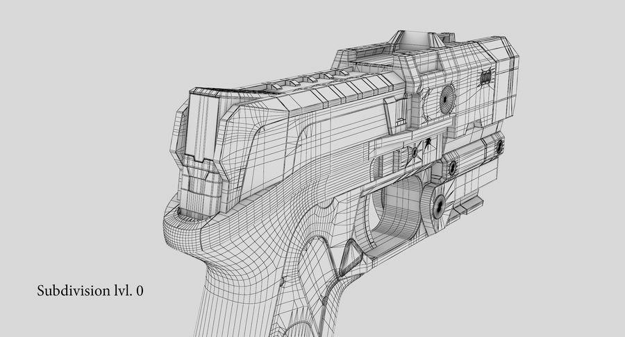 Sci-fi Gun royalty-free 3d model - Preview no. 21