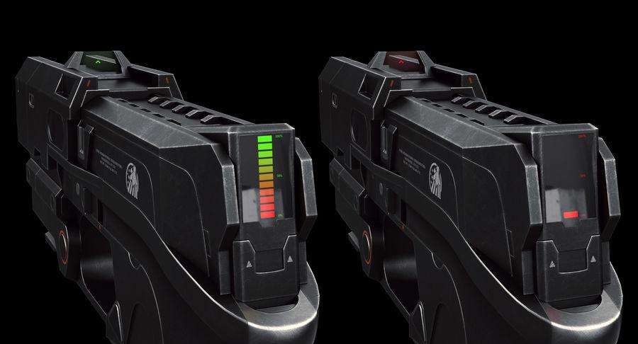 Sci-fi Gun royalty-free 3d model - Preview no. 7