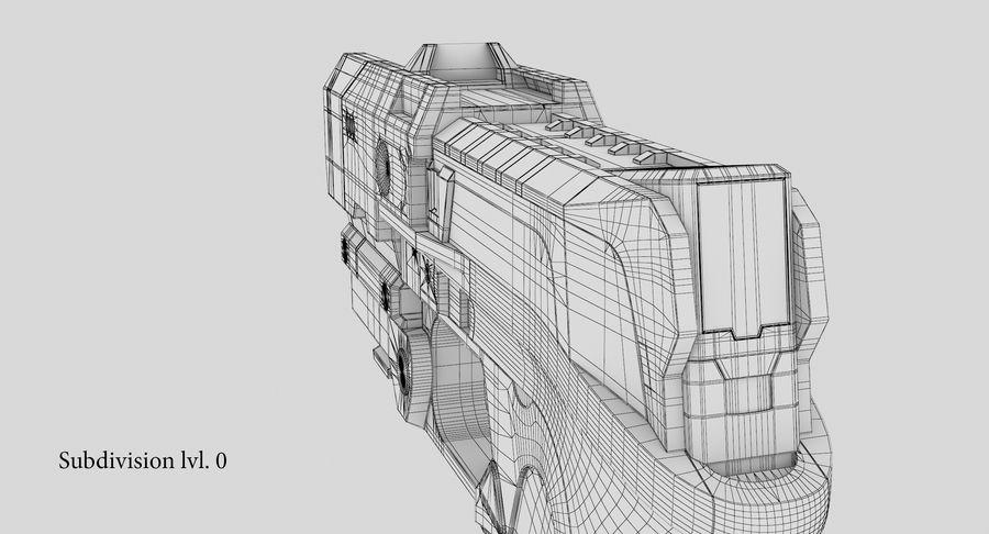 Sci-fi Gun royalty-free 3d model - Preview no. 23