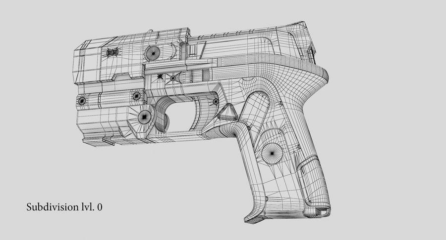 Sci-fi Gun royalty-free 3d model - Preview no. 19
