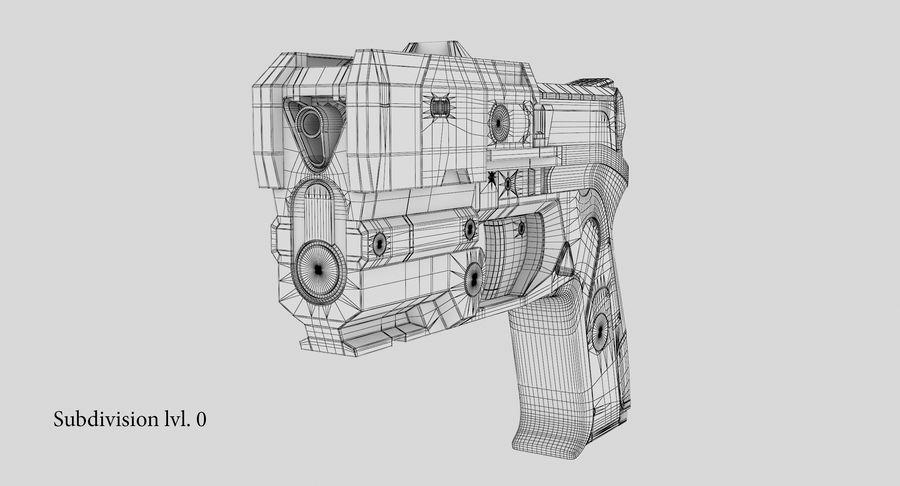 Sci-fi Gun royalty-free 3d model - Preview no. 27