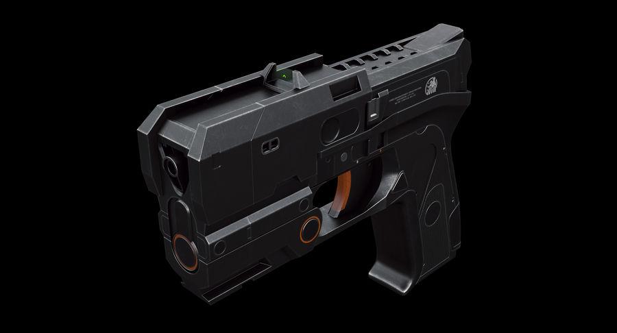 Sci-fi Gun royalty-free 3d model - Preview no. 3