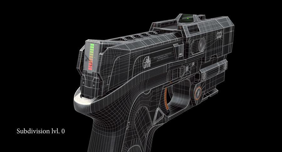 Sci-fi Gun royalty-free 3d model - Preview no. 13