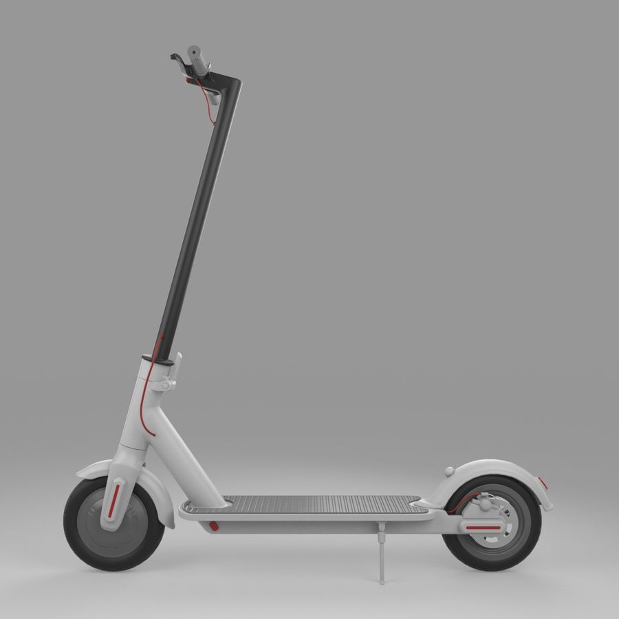 Electric Scooter royalty-free 3d model - Preview no. 11