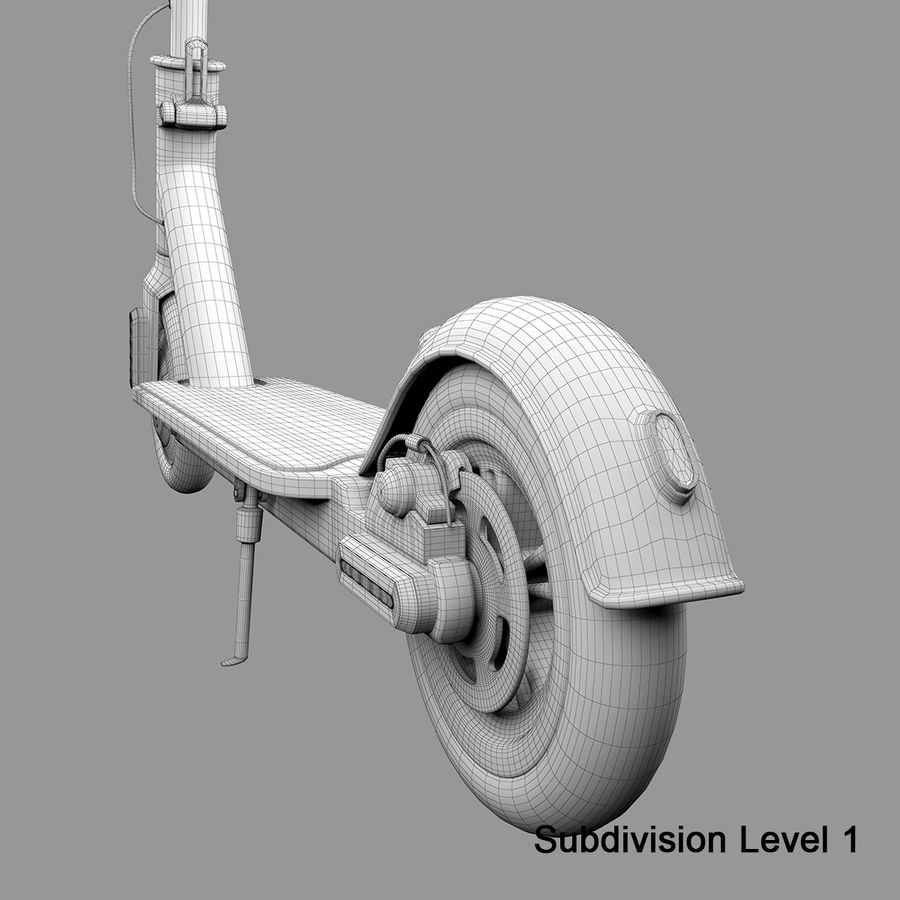 Electric Scooter royalty-free 3d model - Preview no. 20