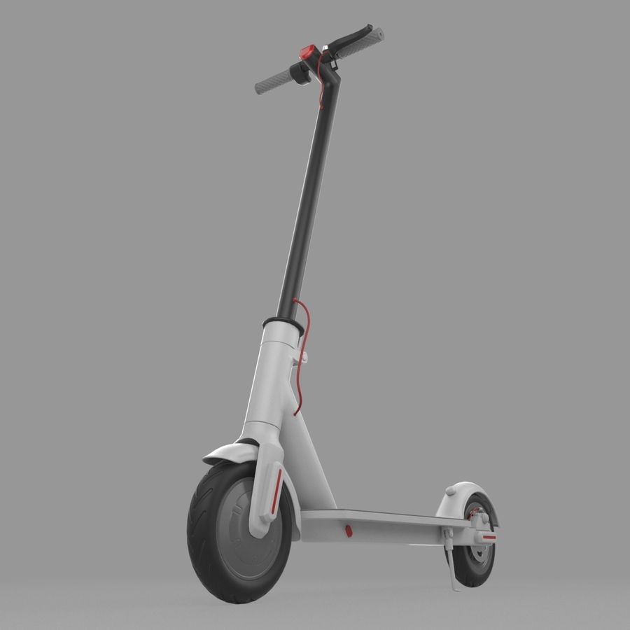 Electric Scooter royalty-free 3d model - Preview no. 9