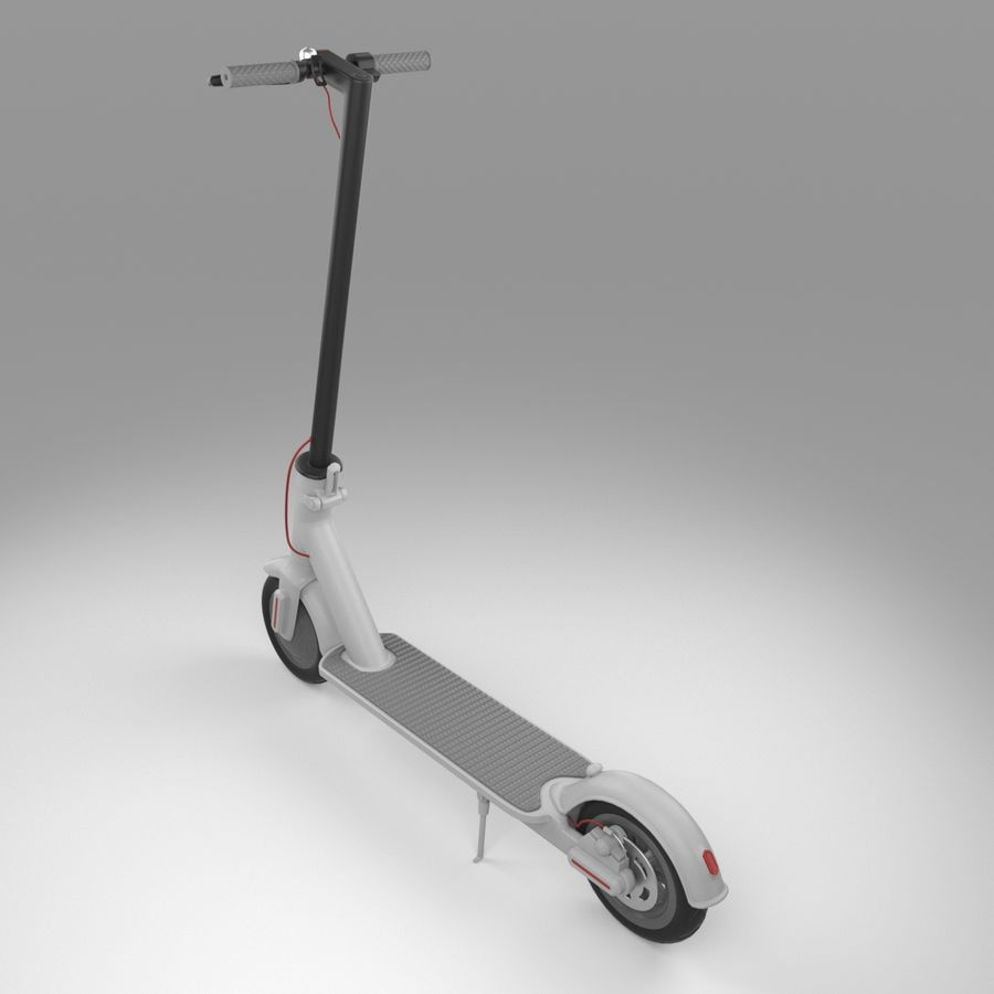 Electric Scooter royalty-free 3d model - Preview no. 3