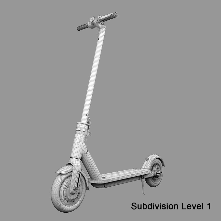 Electric Scooter royalty-free 3d model - Preview no. 16
