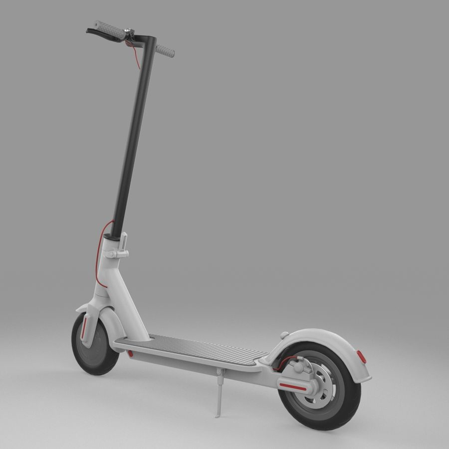 Electric Scooter royalty-free 3d model - Preview no. 5