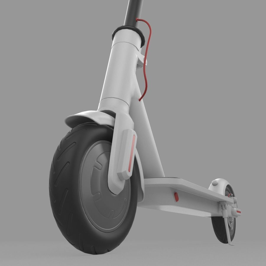 Electric Scooter royalty-free 3d model - Preview no. 14