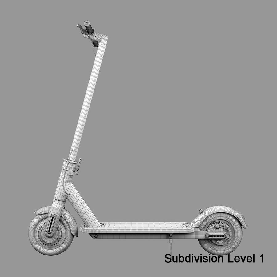 Electric Scooter royalty-free 3d model - Preview no. 18