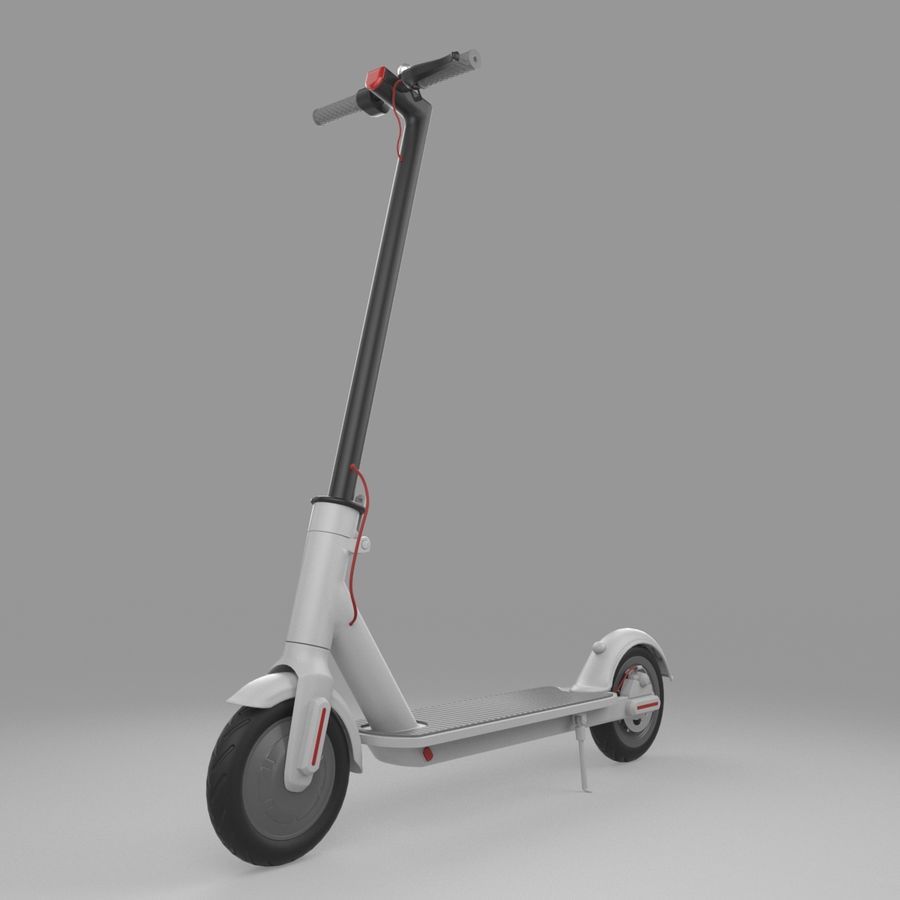 Electric Scooter royalty-free 3d model - Preview no. 2