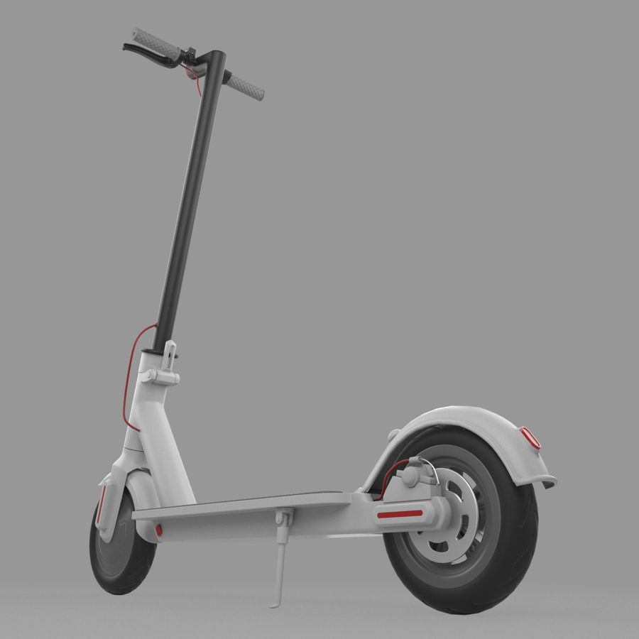 Electric Scooter royalty-free 3d model - Preview no. 6