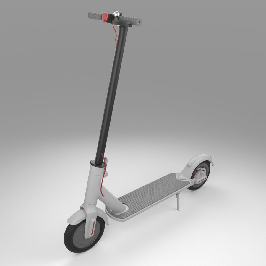 Electric Scooter royalty-free 3d model - Preview no. 7