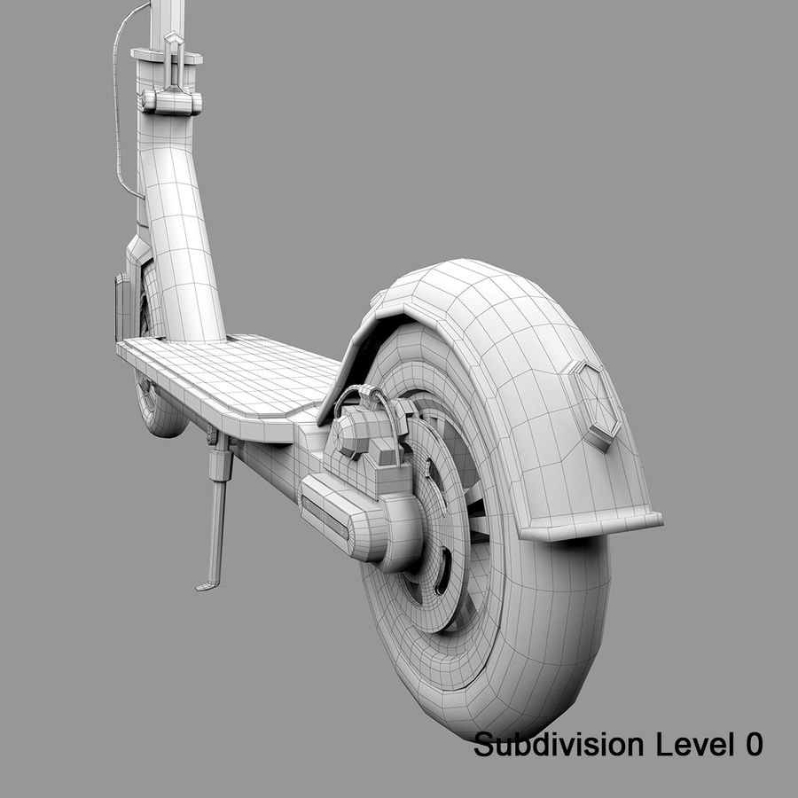 Electric Scooter royalty-free 3d model - Preview no. 19