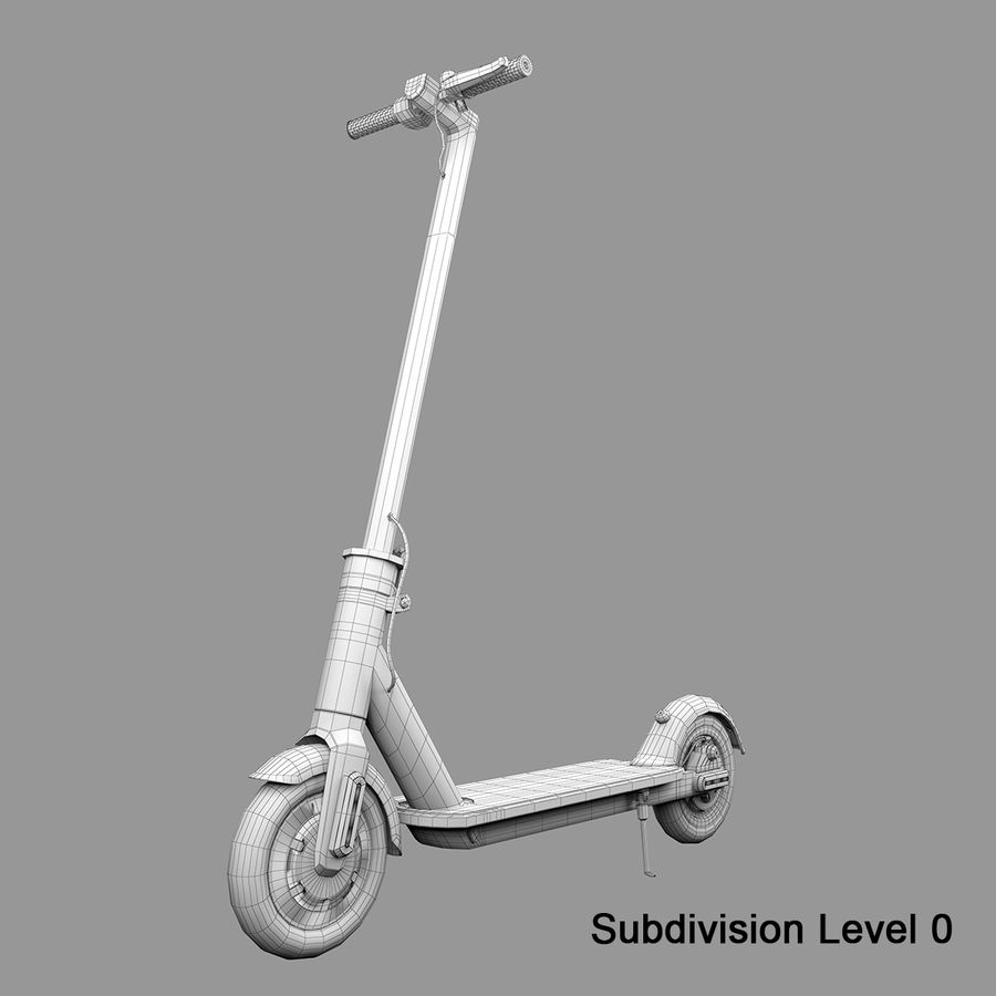 Electric Scooter royalty-free 3d model - Preview no. 15