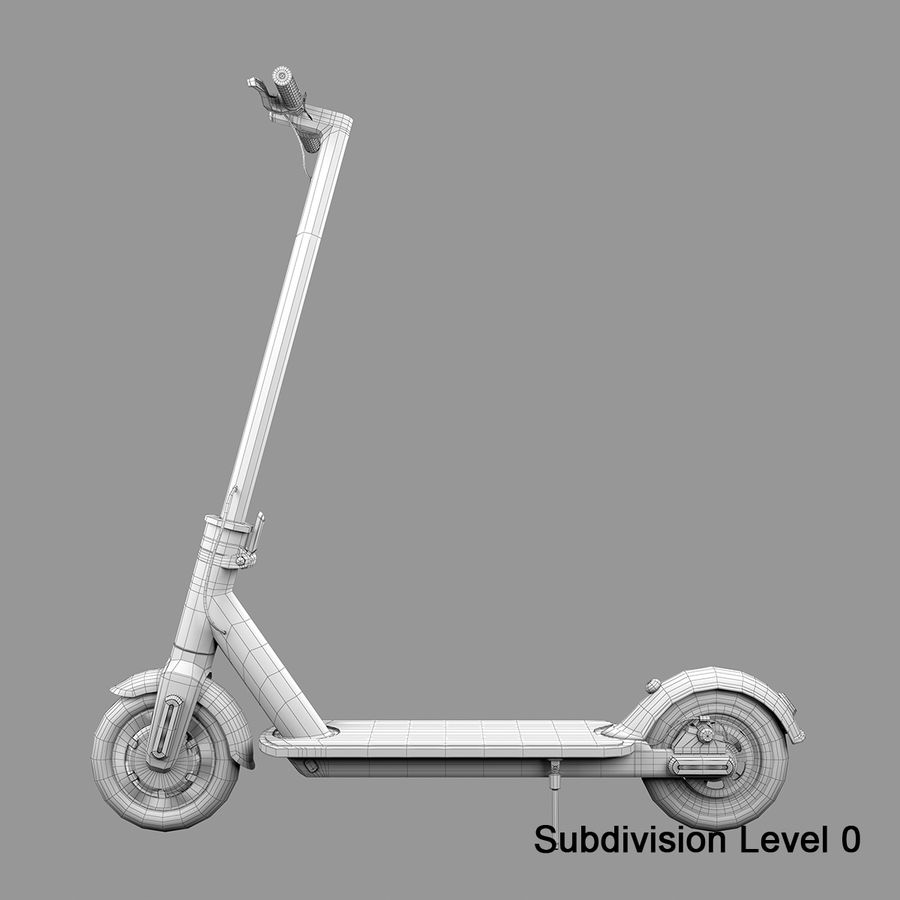 Electric Scooter royalty-free 3d model - Preview no. 17