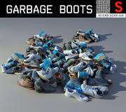 Garbage Boots HD + LP 3d model