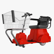 Electric Shopping Cart 01 3d model