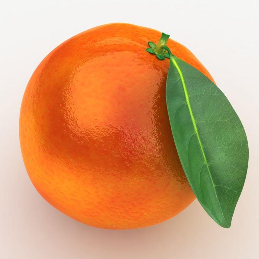 Blood Orange Fruit royalty-free 3d model - Preview no. 4