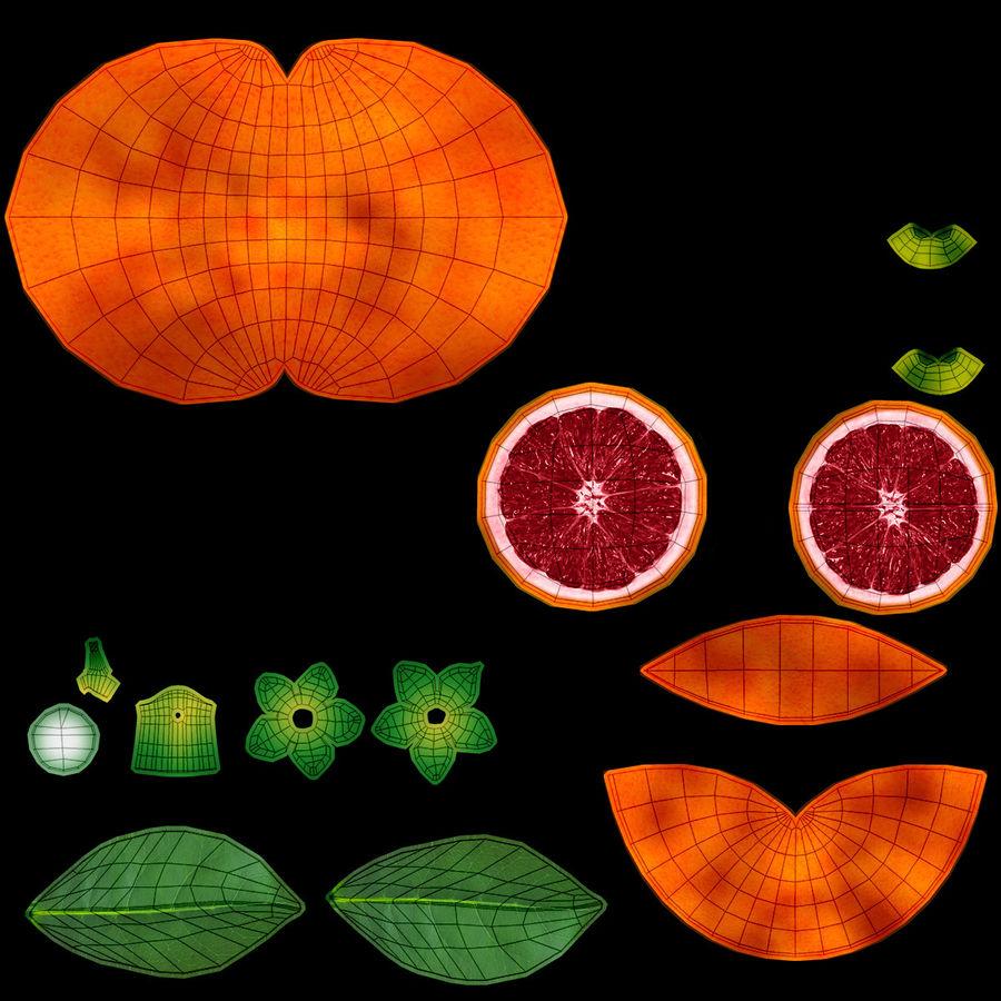 Blood Orange Fruit royalty-free 3d model - Preview no. 18