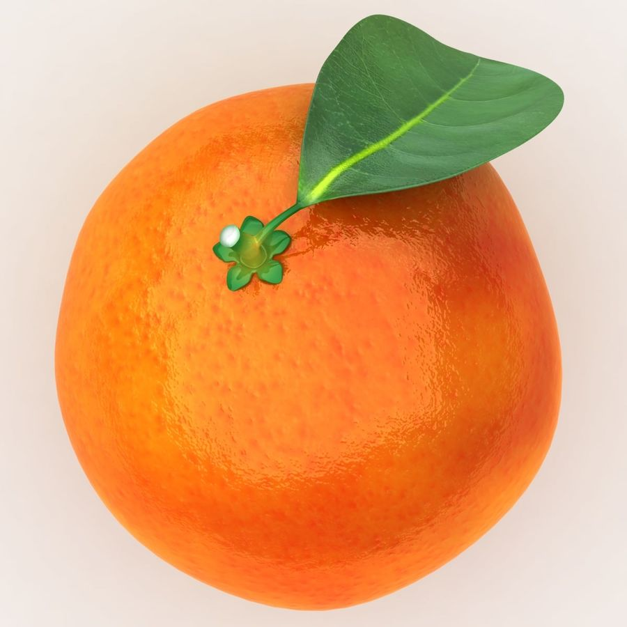 Blood Orange Fruit royalty-free 3d model - Preview no. 6