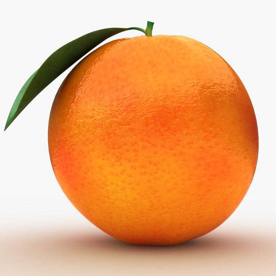 Blood Orange Fruit royalty-free 3d model - Preview no. 9