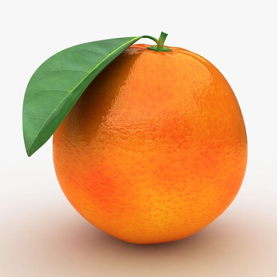 Blood Orange Fruit royalty-free 3d model - Preview no. 2