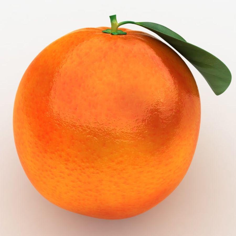 Blood Orange Fruit royalty-free 3d model - Preview no. 7