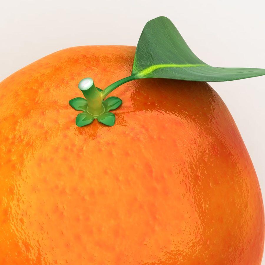 Blood Orange Fruit royalty-free 3d model - Preview no. 8