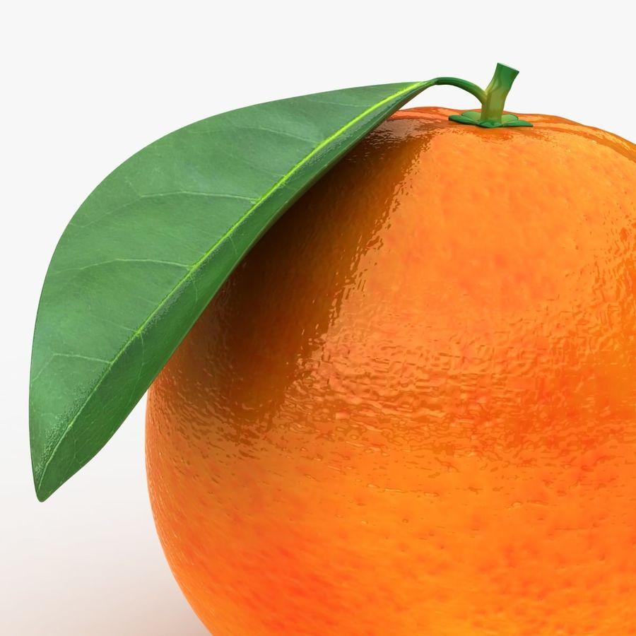 Blood Orange Fruit royalty-free 3d model - Preview no. 3
