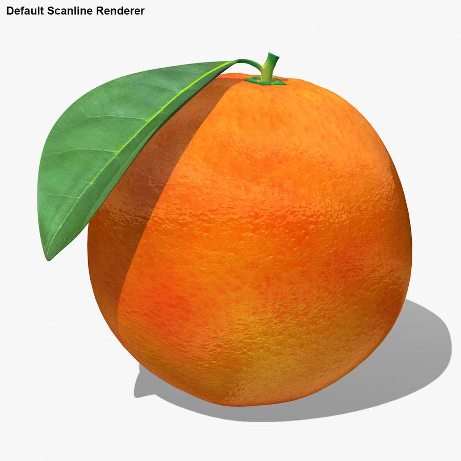 Blood Orange Fruit royalty-free 3d model - Preview no. 17