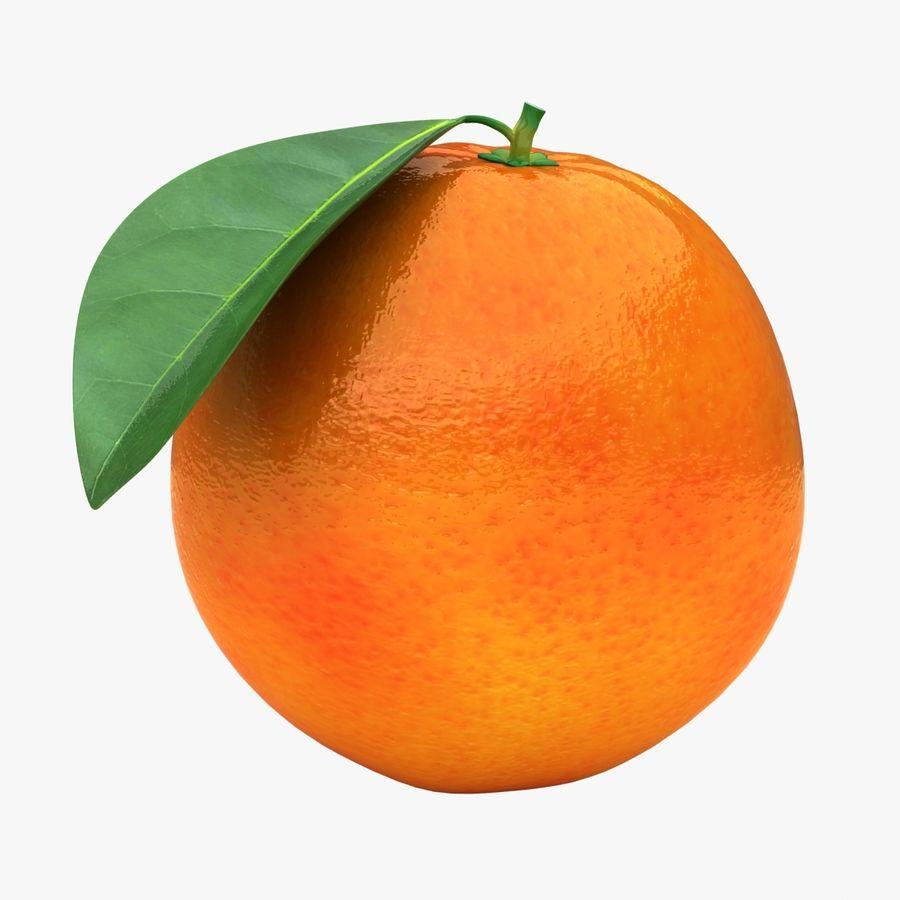 Blood Orange Fruit royalty-free 3d model - Preview no. 1