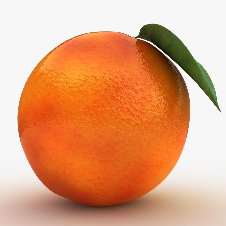 Blood Orange Fruit royalty-free 3d model - Preview no. 5